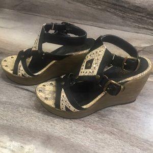 Yellow Box wedge heels